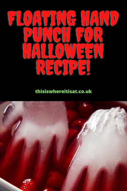 Floating hand punch for Halloween