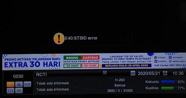 STB ID Error pada receiver Garmedia