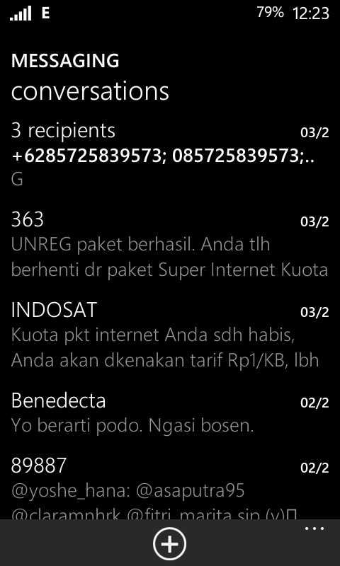 Message Android Windows Phone 8
