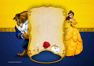 Beauty And The Beast Party Free Printable Invitations