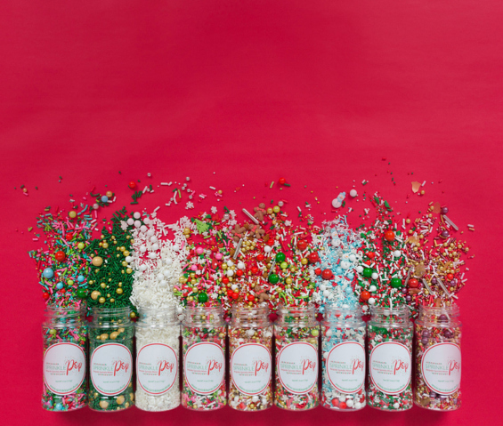 Sprinkles falling out of jars
