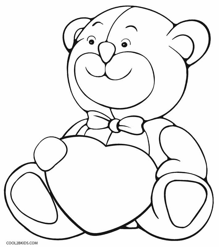 Tranh tô màu chú gấu đáng yêu, dễ thương cho các bé tập tô 16