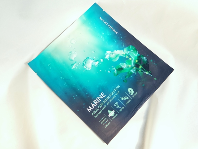 Nature Republic Marine  Aqua Collagen Solution Hydrogel Mask
