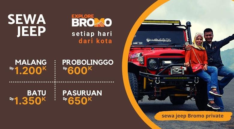 harga terbaru dan termurah sewa jeep bromo