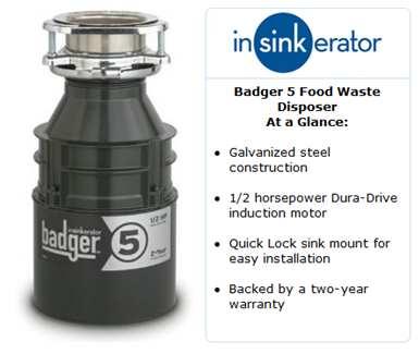 Ise Badger 5 Garbage Disposal Manual