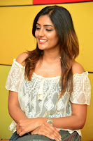 Eesha in a cute deep neck top and Skirt at at Big FM 035.JPG