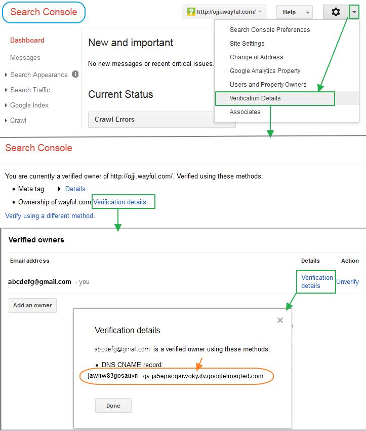 구글 블로그 사용법: 써드파티 URL (사용자 도메인, 2차 도메인) 설정시 구글 보안 CNAME 찾는 방법