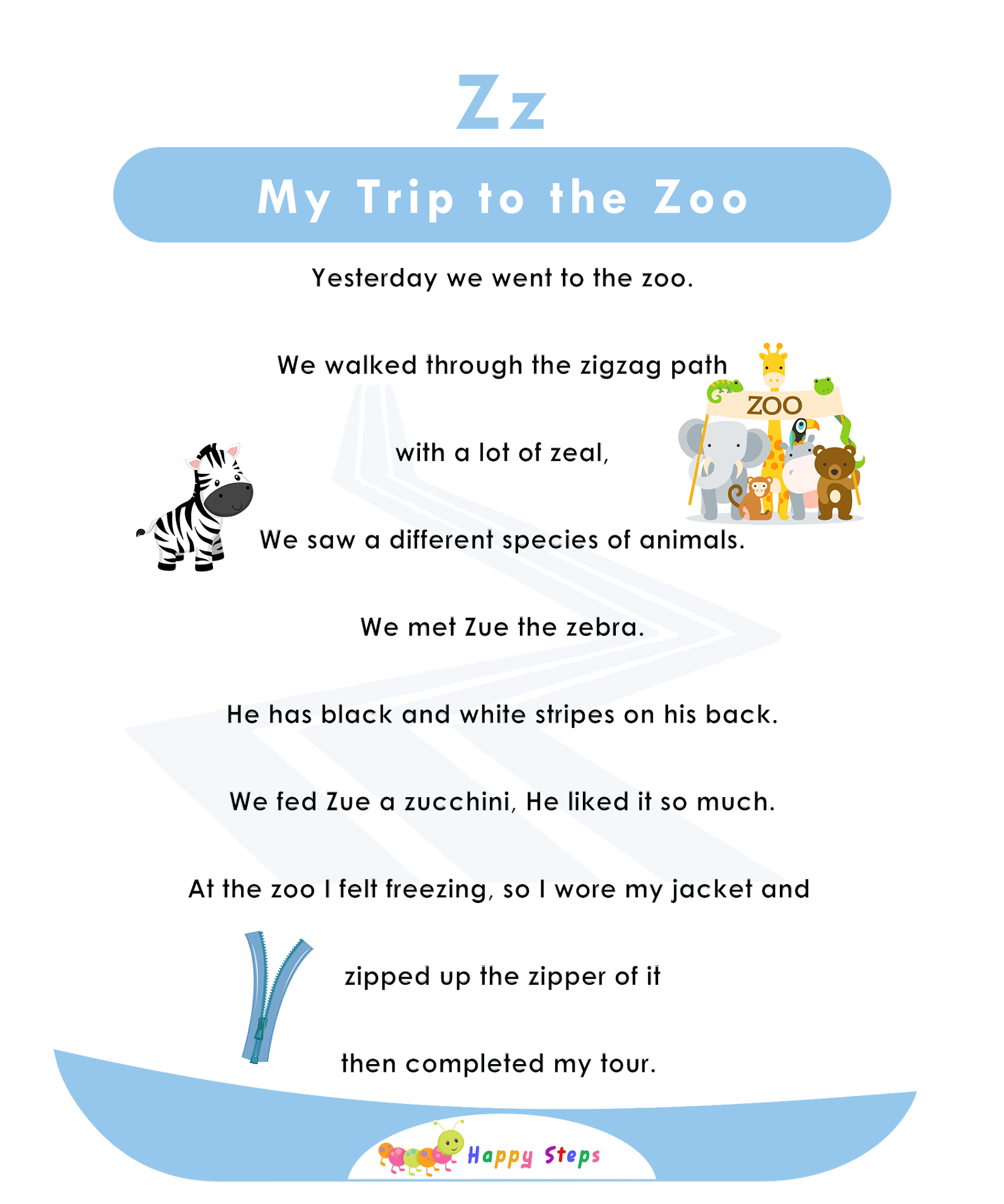 My Trip To The Zoo Alphabet Stories For Kids