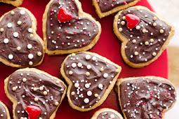 Peanut Butter Buckeye Brownie Hearts