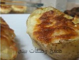 مكونات والمقادير اللازمة لعمل البطاطس المحشية باللحم المفروم,