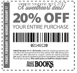 free Half Price Books coupons for april 2017