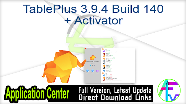 TablePlus 3.9.4 Build 140 + Activator