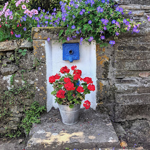 Antique painted water spigot in Ardmore County Waterford Ireland
