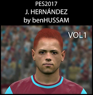 Face can be used for Pro Evolution Soccer  Update, PES 2017 Faces Chicarito by BenHussam