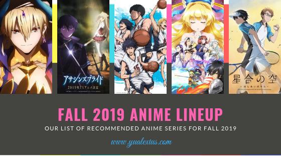 Fall 2019 Anime Season (New Anime Shows)