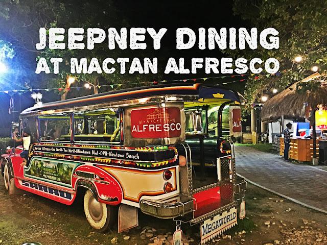 Jeepney Dining at Mactan Alfresco in Mactan Newtown