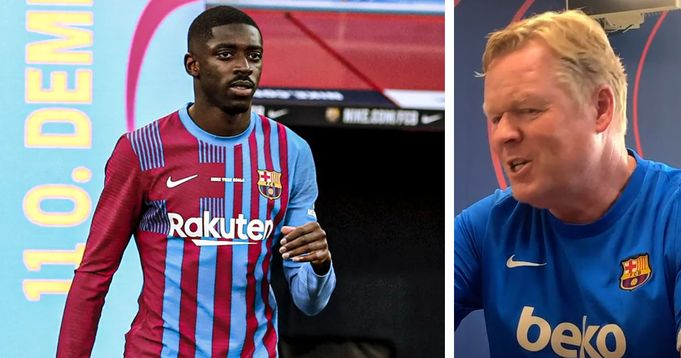 Koeman reveals Dembele will be a vital player to Barca when he recovers