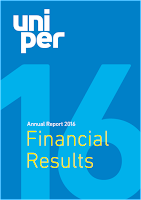 Front page of Uniper 2016 annual report