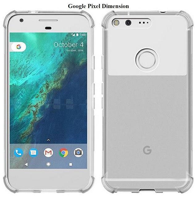 Google Pixel dimension