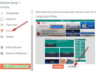 klik edit html