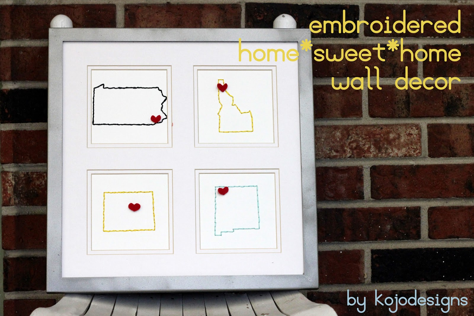 Embroidered Home Sweet Home Wall Decor