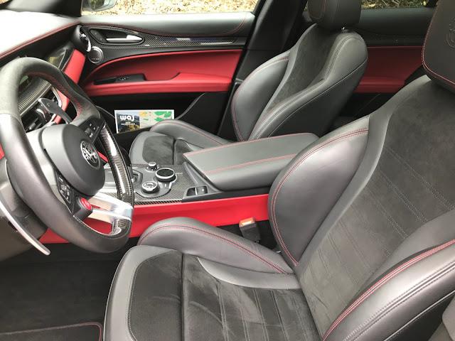 Interior in 2018 Alfa Romeo Stelvio Quadrifoglio AWD