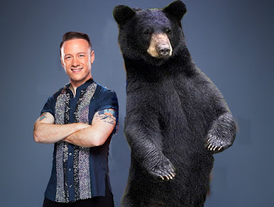 Kevin Clifton and Bear on Strictly Come Dancing