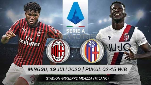 Prediksi AC Milan Vs Bologna, Minggu 19 Juli 2020 Pukul 02.45 WIB @ RCTI