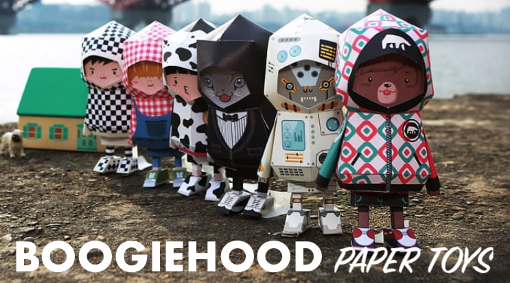 boogie hood downloadable paper toy templates
