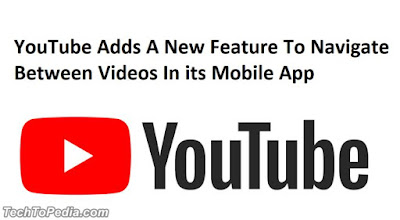 YouTube Adds A New Feature To Navigate Between Videos In its Mobile App