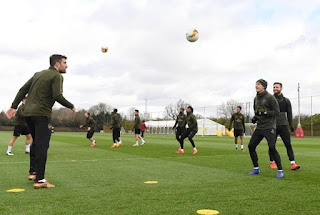 arsenal vs bate training