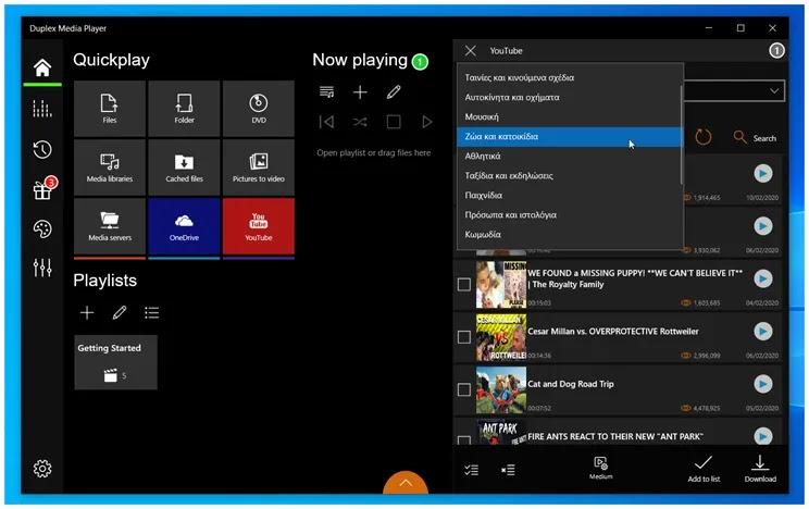Duplex Media Player:  Πρωτοποριακό πρόγραμμα αναπαραγωγής  πολυμέσων στα windows