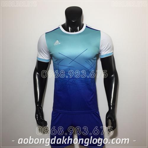 Áo Bóng Đá Ko Logo Adidas QT Xanh