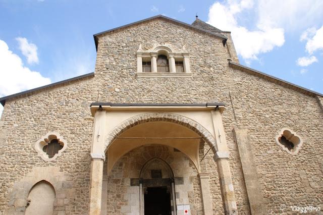 La facciata della Chiesa di San Fiorenzo a Vinadio