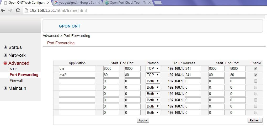 How to port forwarding of BSNL GPON ONT Router - May I Help You