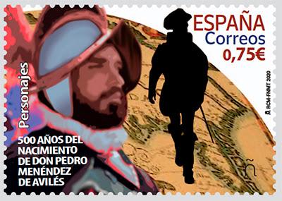 Sello de Pedro Menéndez de Avilés
