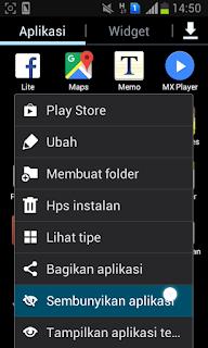 Cara Menyembunyikan Aplikasi dan Game Android di Hp Android