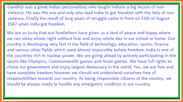 short speech on independence day