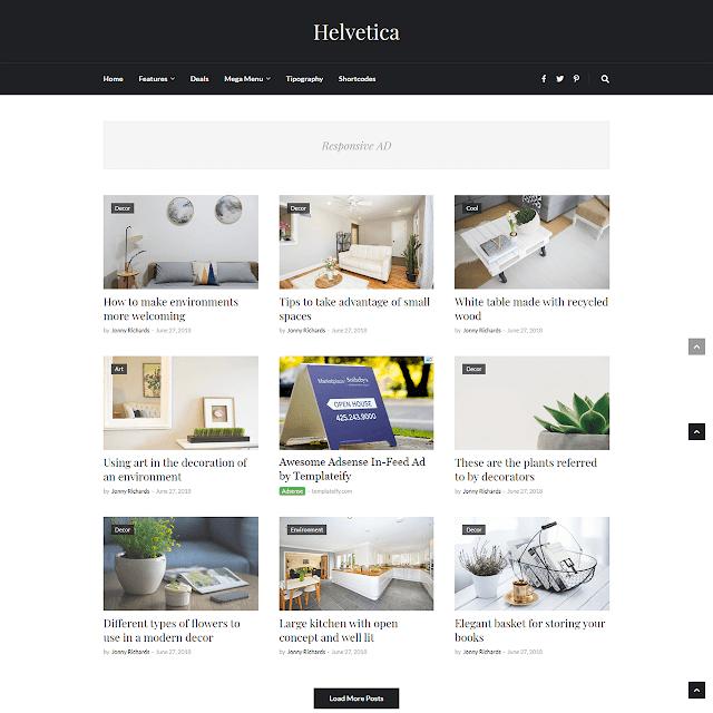 Mẫu Blogger Helvetica