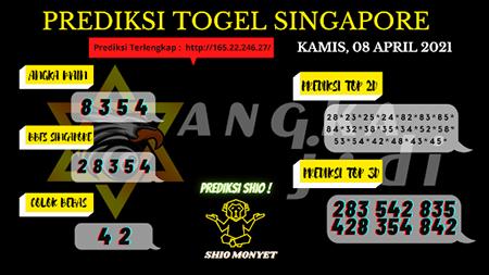 Prediksi Angka Jadi SGP Kamis 08-Apr-2021