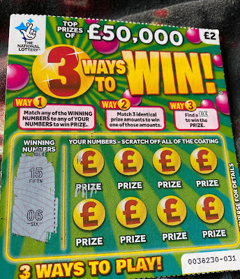 £2 3 Ways To Win National Lottery Scratchcard