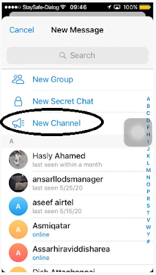tap new channel