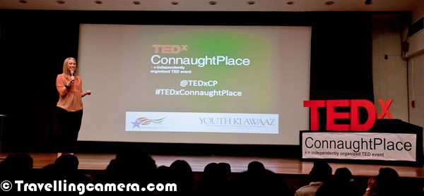 On 11th Feb 2012, a TEDx Connaught Place happened at American Center on Kastoorba Gandhi Road. This Photo Journey is trying to share relevant information about this show with detailed information about Speakers and their ideas...Although Osama was last speaker of the evening, but I thought of sharing his Photograph first. I loved his talk and the work he is doing. Hope more people, who have come to Metros from small towns/villages, join hands with him to really accomplish the mission with more efficient way. Here is Mr. Osama Manzar on TEDx Connaught Place stage. He is a convert social entrepreneur spearheading the mission to overcome the information barrier between India's rural sector, and the so-called developed society, through Digital Empowerment Foundation (DEF) –– which is a the not-for-profit organization founded to accomplish the mission; http://www.defindia.net. Selected & Participated in 'International Visitors Leadership Program' of USA State Department in September 2011.Piyush was first speaker of the evening and delivered one of the most matured talks during the evening. He shared his thoughts and work he is doing around Road Accidents. I really liked the way he has been executing his thoughts in partnership with local police departments. These days, thinking to work with the system for betterment is very courageous thing and can be extremely beneficial for whole society as a whole.  Piyush Tewari is the Founder & President of SaveLIFE Foundation (SLF), which is a non-profit, non-governmental organization focused on improving road safety and emergency care globally. Having started SLF while working at Calibrated Group, a US-based PE fund, as its Managing Director (India), Piyush is now devoting 100% time to SaveLIFE, and currently working to launch India's largest road accident first-response service involving Police and community first-responders.Ishita's passion for the environment and love for the mountains led her to found Ecosphere with a few like