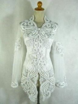kebaya simple white