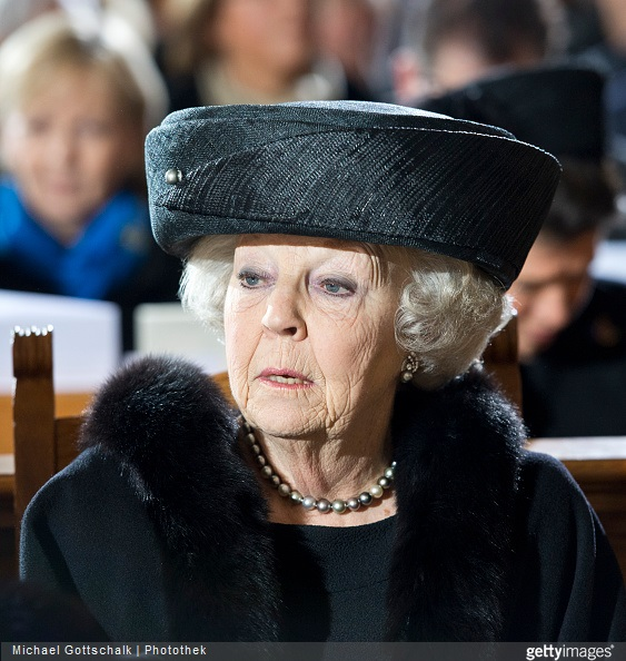 Princess Beatrix of the Netherlands attends the memorial service for the late former German President Richard von Weizsaecker