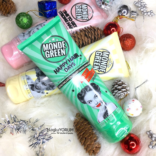 monde green colour protect renk koruyucu şampuan