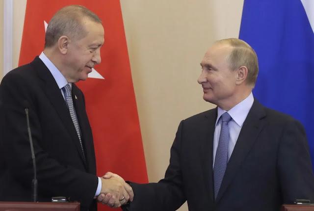 Η σκηνοθετημένη φιλία Πούτιν-Ερντογάν με φόντο τον Turk Stream