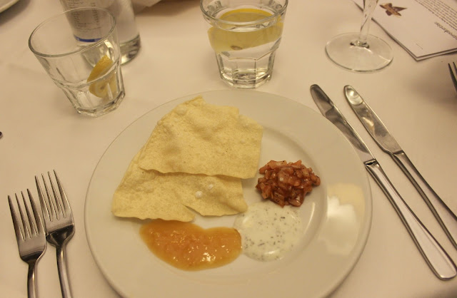 A picture of Poppadoms and chutney at Chutney Ivy Leicester