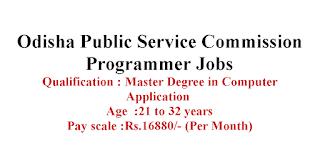 Programmer Jobs in Odisha Public Service Commission