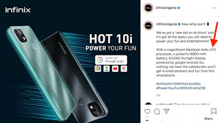 Infinix Hot 10i Unboxing And First Impressions + Price (photos)